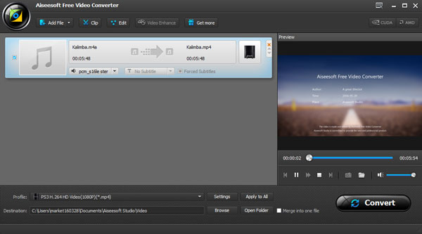 Convertir M4A a MP3 AiseeSoft Video Converter Ultimate