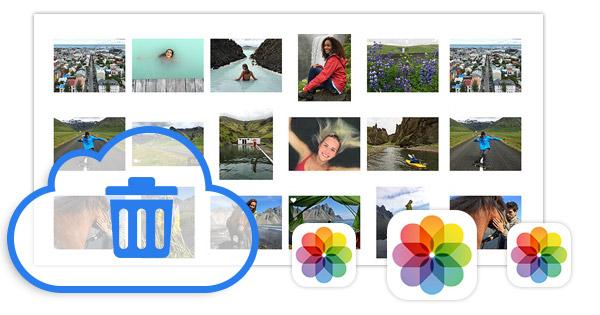 Deletar fotos biblioteca iCloud