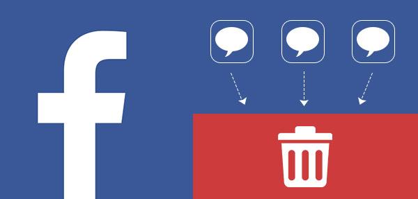 Excluir mensagens do Facebook