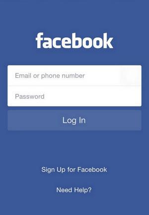 Limpar histórico Facebook aplicativo iPhone Passo 1