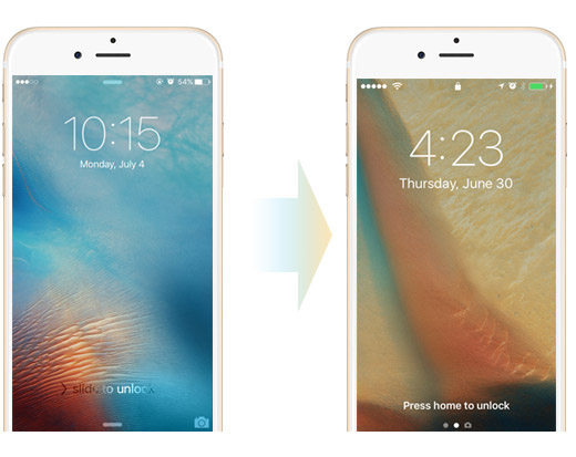 Novidades iOS 10 tela de bloqueio deslizar para desbloquear