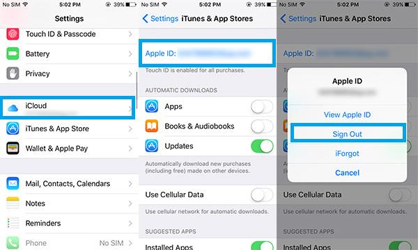 Mudar email associado no dispositivo