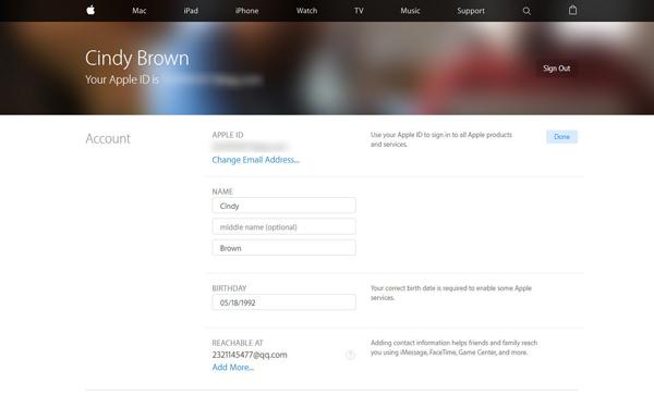 Mudar email associado ID Apple passo 3