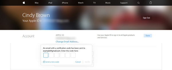 Mudar email associado ID Apple passo 5