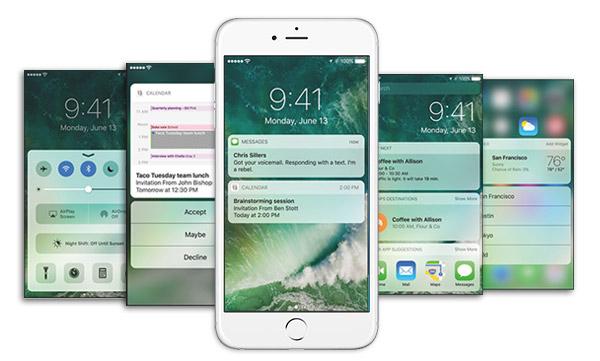 Novidades iOS 10 Tela de bloqueio