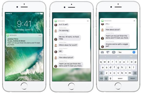 Novidades iOS 10 Notificações