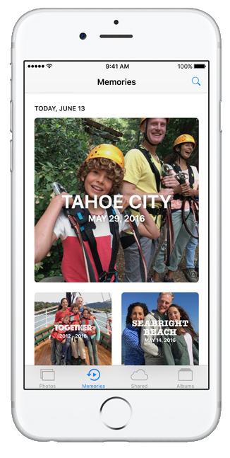 Novo design app fotos iOS 10