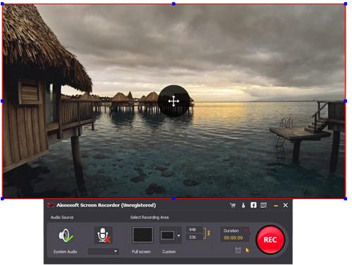 Paso 2 grabar pantalla alternativa al Microsoft Screen Recorder AiseeSoft