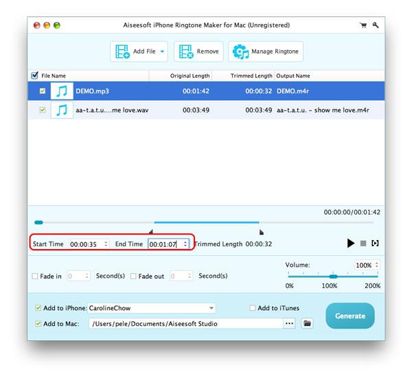 Paso 2 Convertir MP3 para M4R