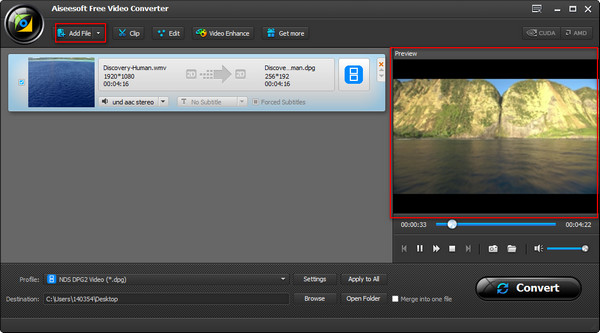 Paso 2 Convertir videos WMV a MP4 Kindle Fire