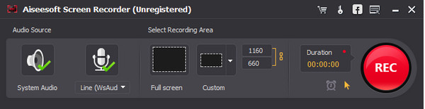 Mejor grabador de pantalla - Paso 2
