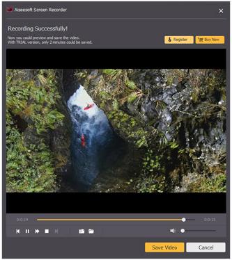 Paso 4 grabar pantalla alternativa al Microsoft Screen Recorder AiseeSoft