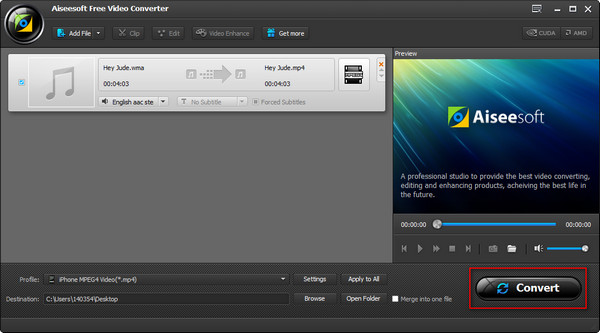 Paso 4 Convertir audio WMA a MP3