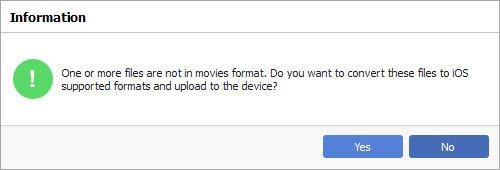 Paso 4 Transferir videos PC para Mac sin iTunes