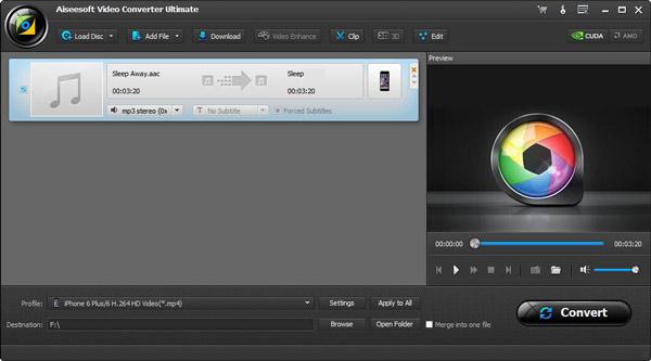 Passo 2 Converter AAC para AMP3 AiseeSoft