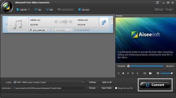 Passo 4 Converter áudios WAV para MP3