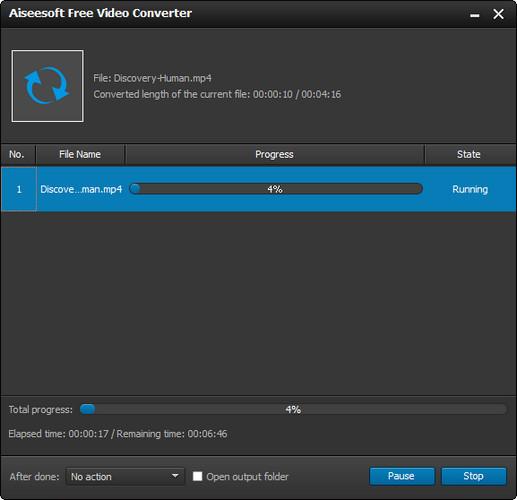 Passo 4 Converter vídeos WMV para MP4 Kindle Fire