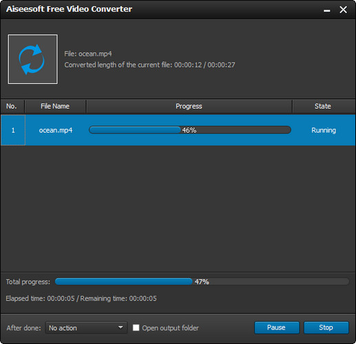 Passo 5 Converter MTS para MP4 AVI WMV