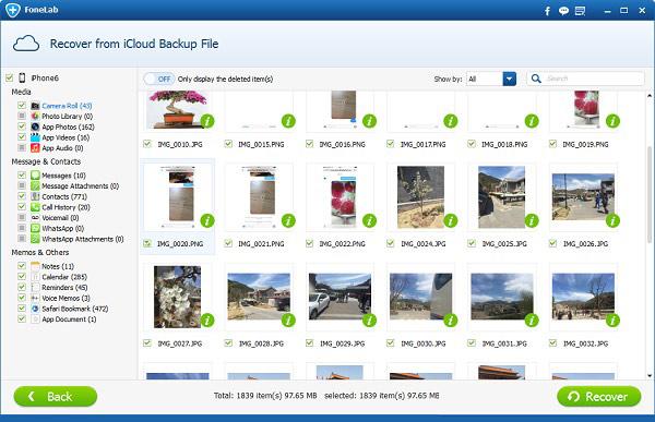 Recuperar fotos excluidas Aiseesoft FoneLab Passo 3