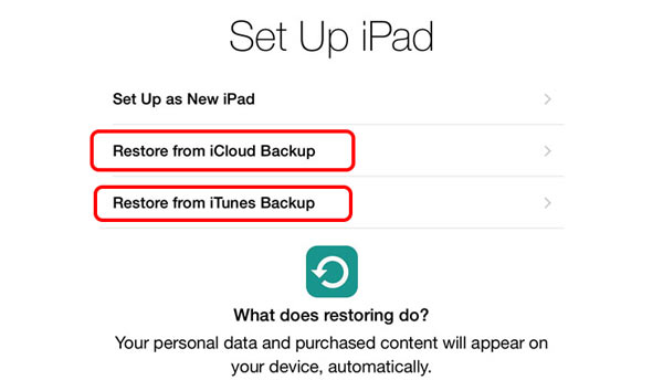 Restaurar iPad redefinir senha