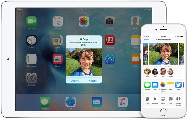 Sincronizar dados iOS AirDrop