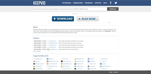 Site baixar vídeos Keepvid
