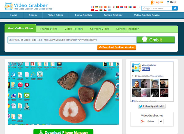 Sitios descargar videos Video Grabber