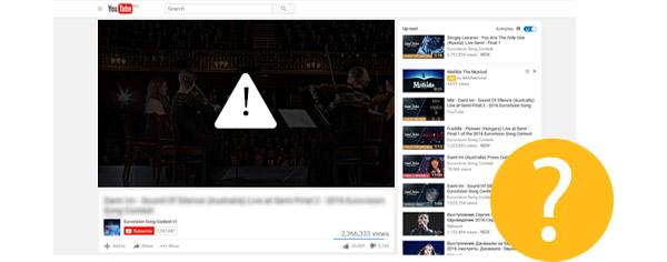 Solucionar erros reprodução youtube