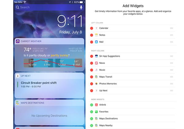 Novidades iOS 10 Spotlight Widgets