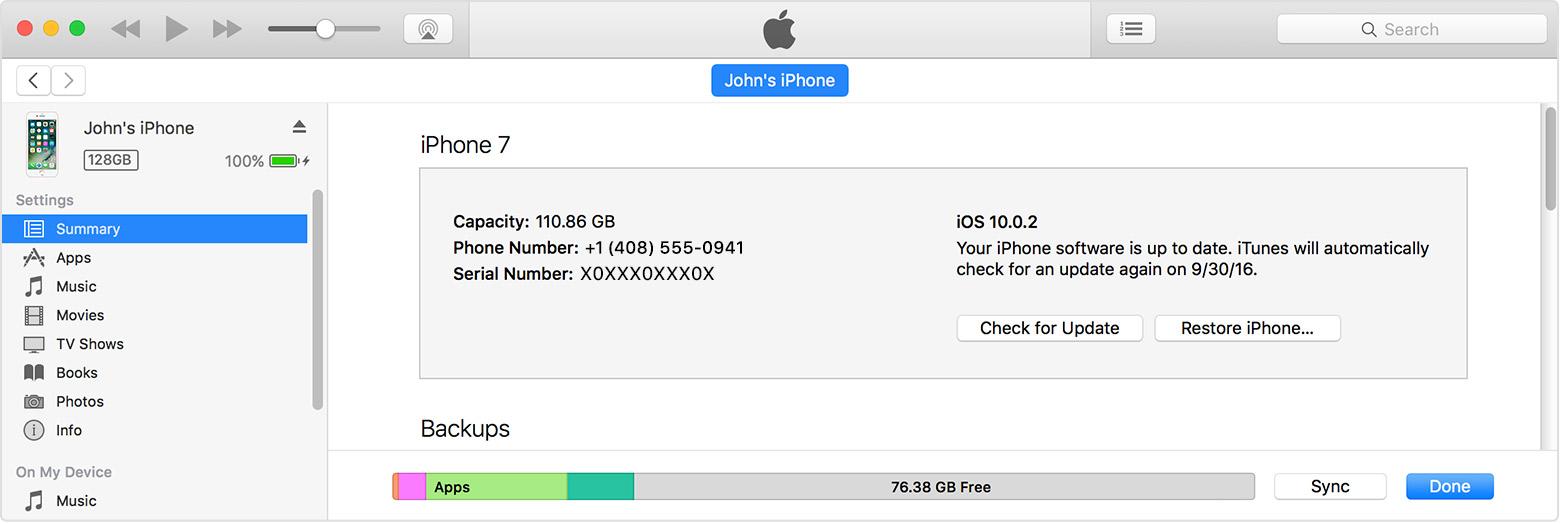 Actualizar usando iTunes
