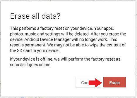 Apagar dados Android