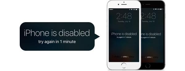 Arreglar iPhone deshabilitado FoneLab