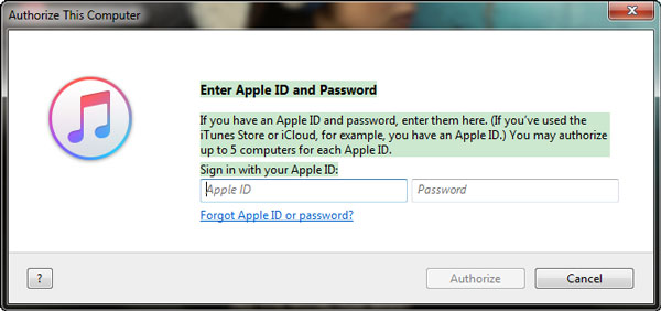 Autorizar computador iTunes 2