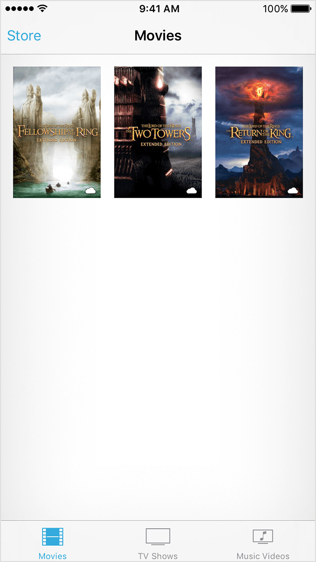 Baixar novamente filmes iOS