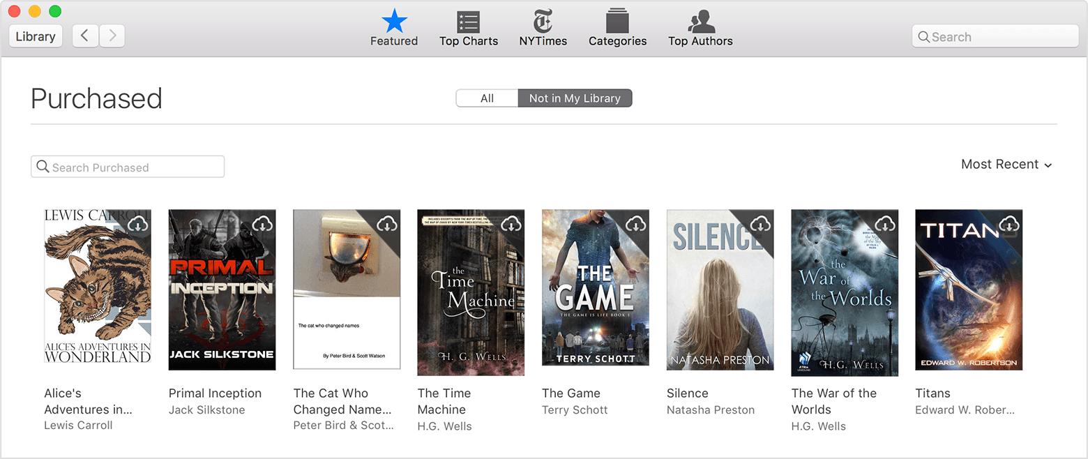 Baixar livros novamente Mac Comprados