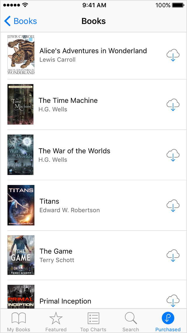Baixar novamente livros iOS
