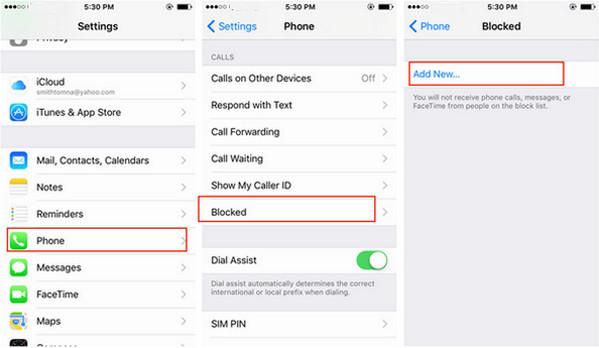 Bloquear llamadas iPhone método 2