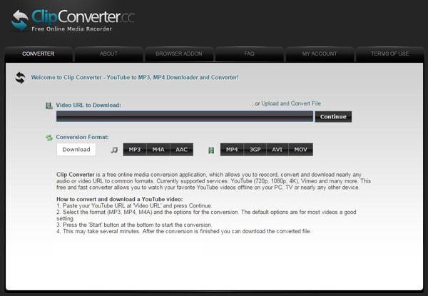 Capturar vídeos Clip Converter