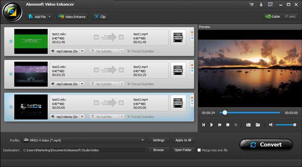 Combinar videos Video Converter Ultimate VCU Paso 2