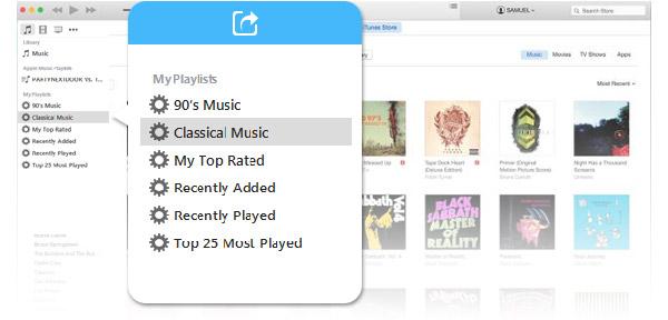 Compartir listas de reproducción iTunes