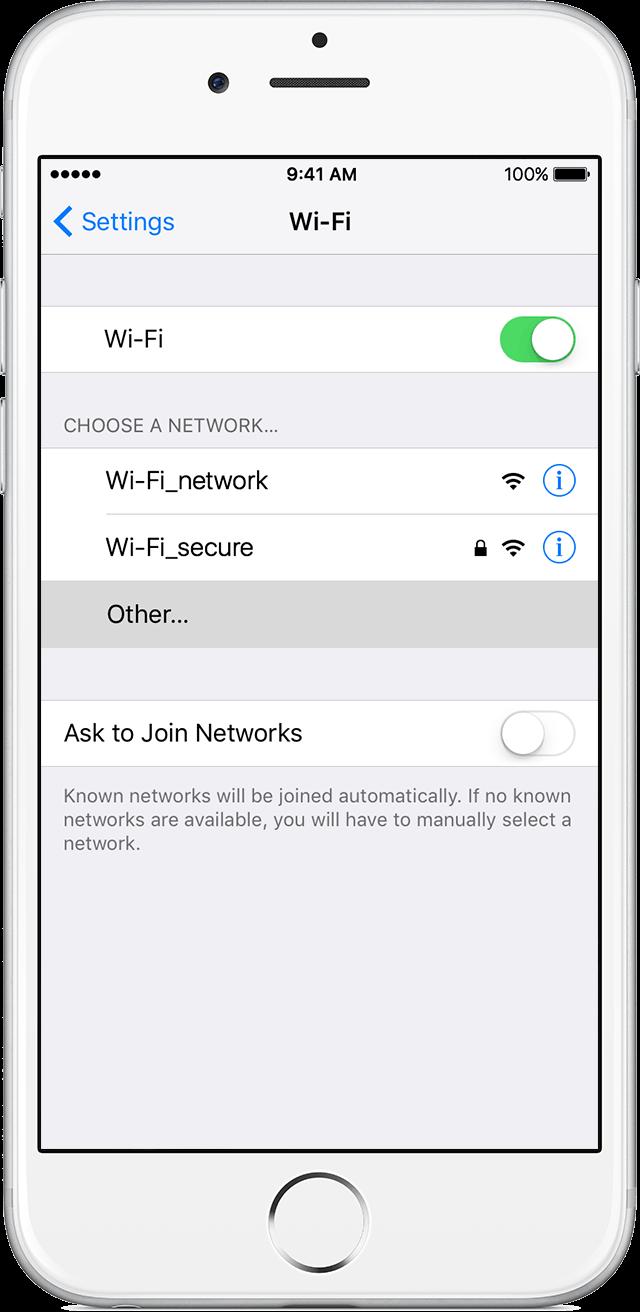 Conectar rede wi-fi oculta