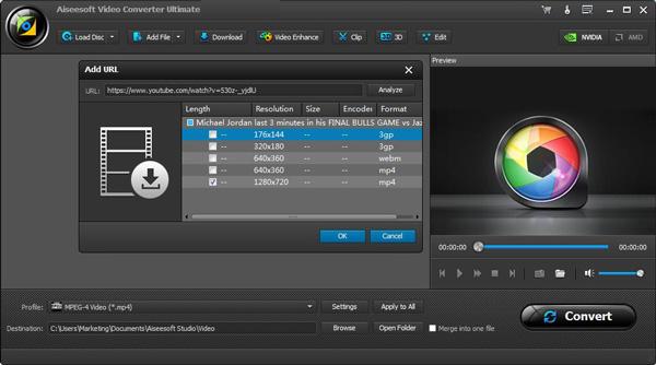 Converter vídeos VCU analisar vídeo