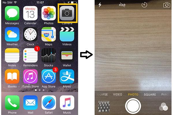 Temporizador câmera iPhone