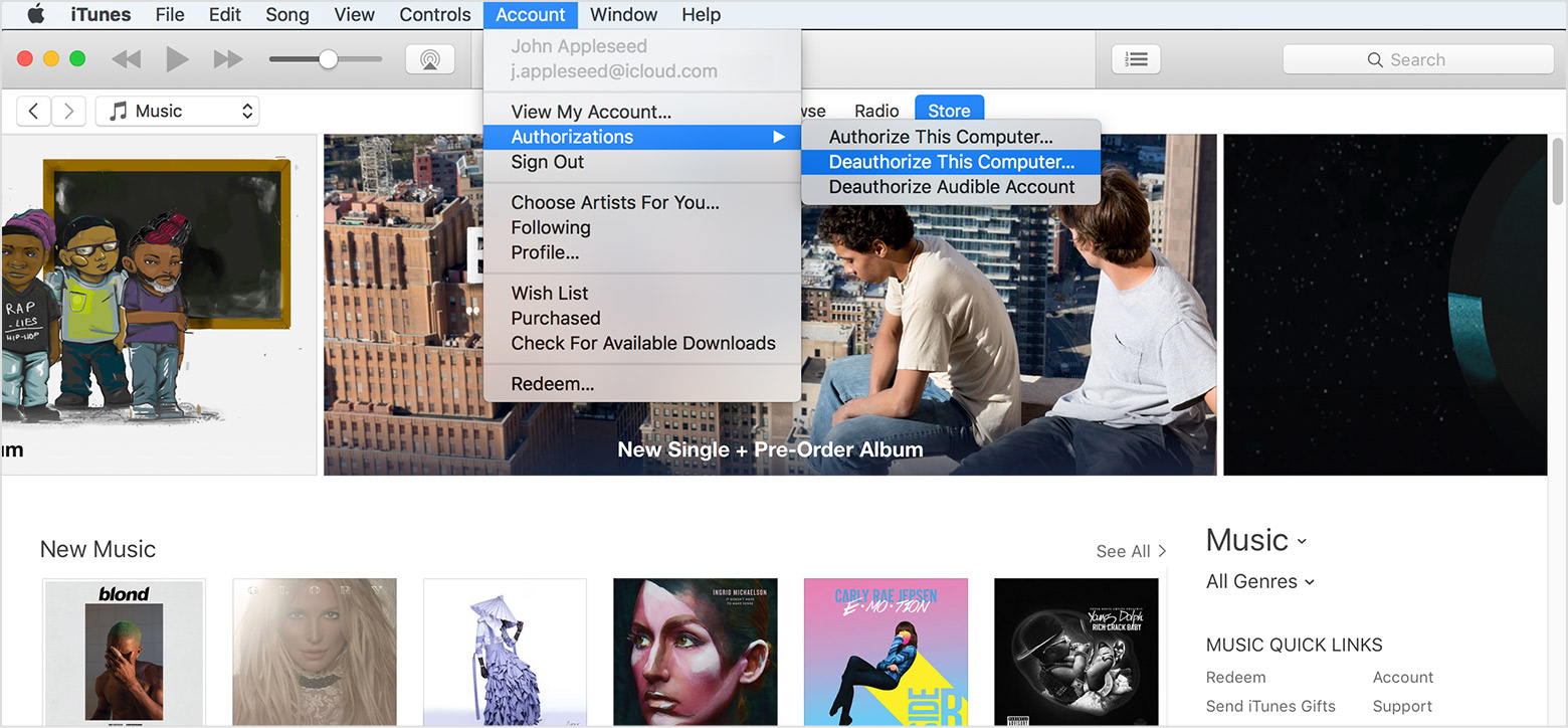 Desautorizar un PC iTunes iOS