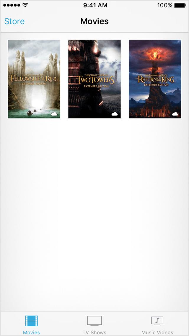 Descargar nuevamente películas iOS