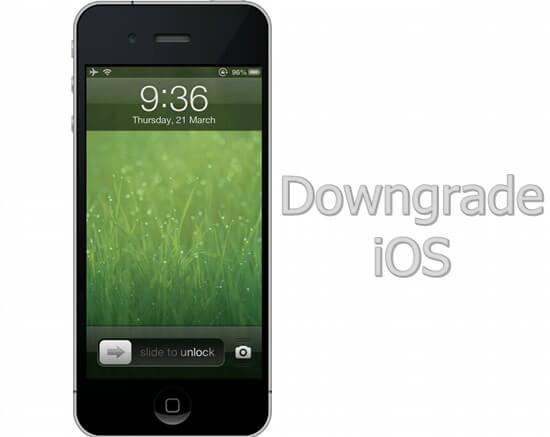 Downgrade versão iPhone