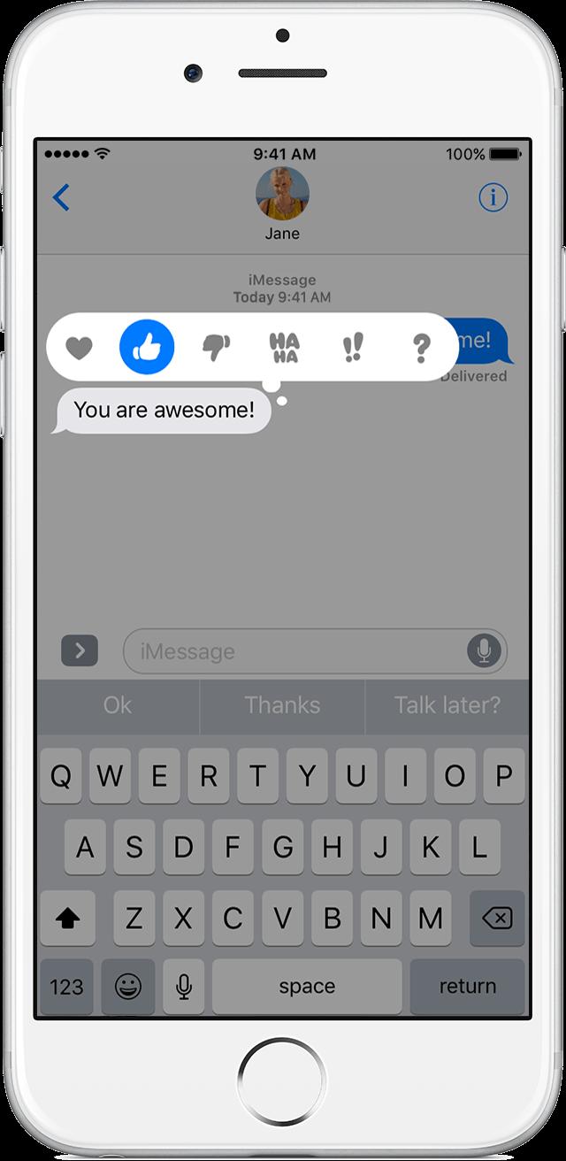 Efeito expressão mensagens