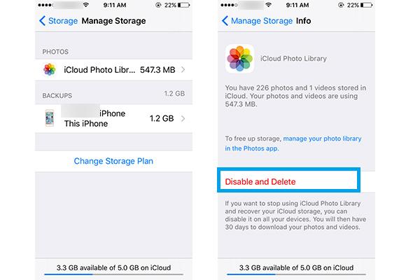 Eliminar fotos iPhone iOS 8 Situación2 Paso 3