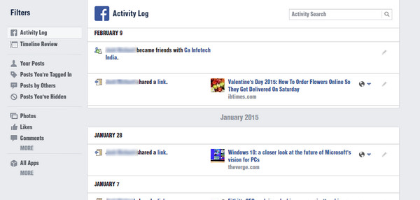 Limpiar historial Facebook navegador Paso 2