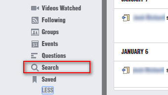 Limpiar historial Facebook navegador Paso 3